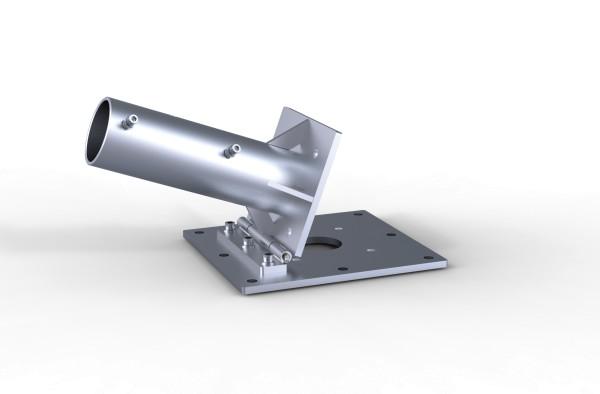 Ankerplatte zum Aufdübeln mit Klappscharnier 2-teilig