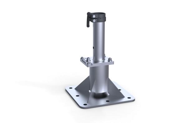 Ankerplatte zum Aufdübeln mit Klappscharnier & Ankerhülsen Oberteil AHF-150