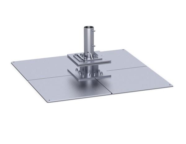 Standplatte mit Klappscharnier 1-lagig, 4 Stahlplatten stationäres Befestigungselement.
