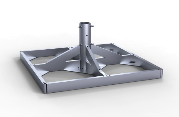 Standrahmen feuerverzinkt abschließbar für den Albatros - Rahmengröße 112 x 112 cm.