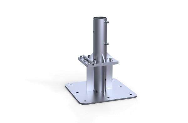 Ankerplatte zum Aufdübeln mit Klappscharnier & Ankerhülsen-Oberteil AR-120