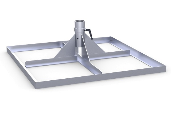 Standrahmen ohne Betonplatten feuerverzinkt