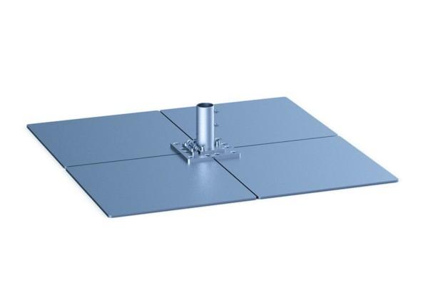 Standplatten mit Klappscharnier & Ankerhülse-Oberteil AH-150 geeignet für Schirme ab einer Größe von 21 m².