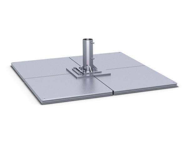 Standplatten mit Klappscharnier 2 lagig = 8 Platten, werden vor Ort zusammengeschraubt, schwerstes Bauteil ca. 63 kg