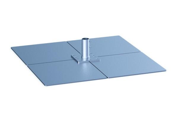 Standplatten & Ankerhülse-Oberteil AH-118 geeignet für Schirme ab einer Größe von 21 m²