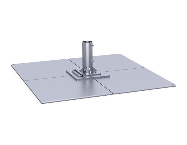 Standplatten mit Klappscharnier 1 lagig = 4 Platten, werden vor Ort zusammengeschraubt, schwerstes Bauteil ca. 63 kg
