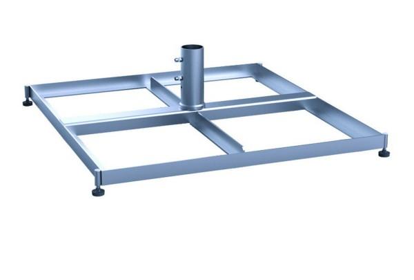 Standrahmen mit Schrägeausgleich ohne Betonplatten